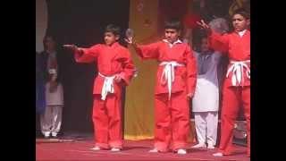 National Song Aizar Kindergarten & Secondary School Kids 14 Feb 2010 Lahore Pakistan