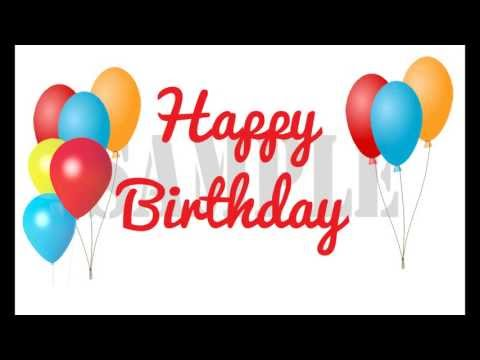 Text Message in Motion -Happy Birthday