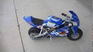 Test Ride - Razor Pocket Rocket Miniature Electric Bike / Motorcycle