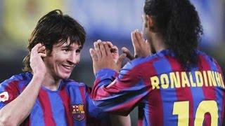 Lionel Messi Assist by Ronaldinho Roni Tv HD p720