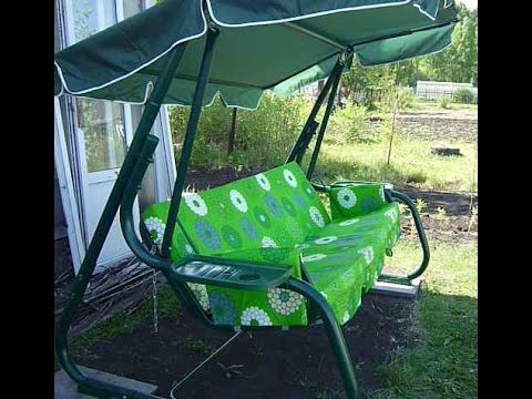 Качели садовые Родео, пошаговая сборка по инструкции