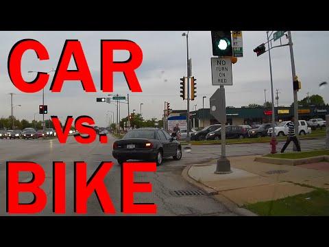 Car Versus Bicycle Crash - Accident Caught On Dashcam - Extended Edit