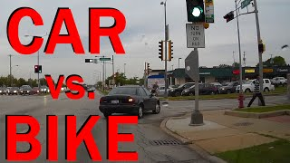 Car Versus Bicycle Crash - Accident Caught On Dashcam - Extended Edit