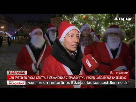 Jau svētdien Rīgas centru pieskandinās Ziemassvētku vecīšu labdarības skrējiens