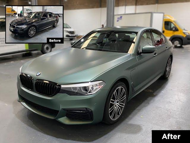 BMW 530e 3M™ 2080 Matte Pine Green Metallic Full Colour Change