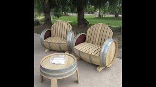 Отличная мебель своими руками   Дачный вариант(Отличную мебель можно сделать своими руками из бочки.Под что только не используют бочки! Из них делают и..., 2015-04-21T14:33:27.000Z)