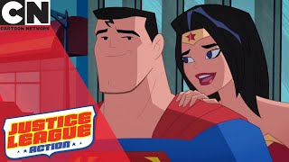Justice League Action | Superman and Wonder Woman Are Dating | Cartoon Network UK