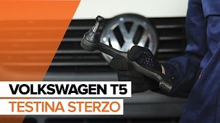 Come sostituire Testina scatola sterzo VW TRANSPORTER V Platform/Chassis (7JD, 7JE, 7JL, 7JY, 7JZ, 7FD) - tutorial