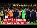 PFDK Ceza Yağdırdı! Fatih Terim'e 7, Fenerbahçeli Jailson'a 8 Maç Ceza
