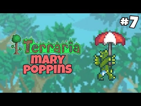 Mary Poppins and the Brisk Sailfish Boots - Terraria Gameplay - Part 7