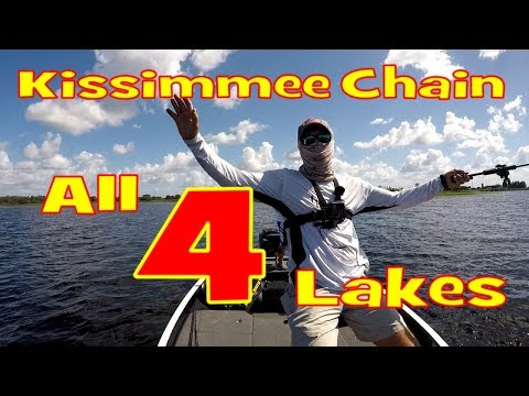 Bass Fishing on the Kissimmee Chain - Fishing Current on all 4 Lakes