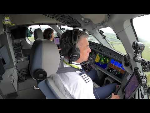 Captain Marina and Chief Pilot Gerhard of Air Baltic: Top A220 bad weather DUB landing!  [AirClips]