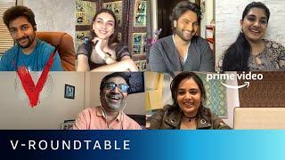 Gambar cover V - Roundtable   Nani, Sudheer Babu Posani, Nivetha Thomas, Aditi Rao Hydari   Amazon Prime Video