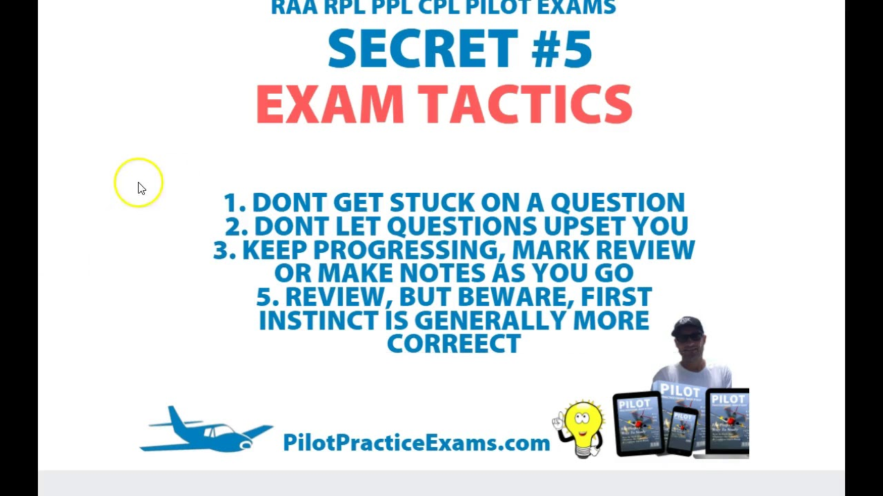 10 Secrets To Passing RAA RPL PPL CPL Pilot Exams Australia
