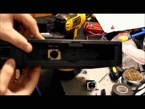 HOW TO - Install a NEUTRIK RJ-45 Adapter in a MadCatz TE Arcade Stick's Cable box!