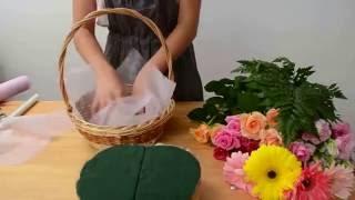 Как собрать корзинку с цветами | ArtHolidays