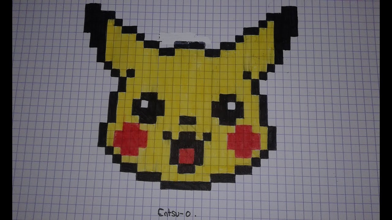 Comment Dessiner Pikachu En Pixel Art Speed Draw Youtube