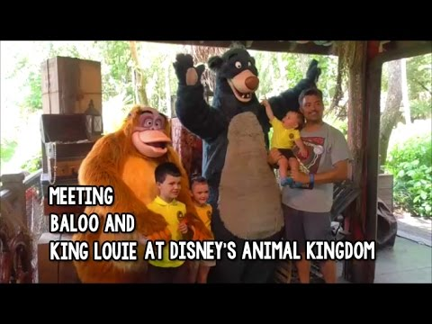Meeting baloo and king louie clipart
