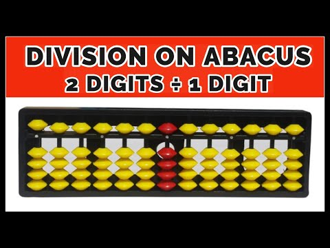 Division Of 2 Digits By 1 Digit Number On Abacus    Division On An Abacus Ep - 36