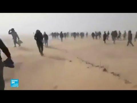مهاجرون يعبرون الصحراء بين الجزائر والنيجر  - نشر قبل 1 ساعة