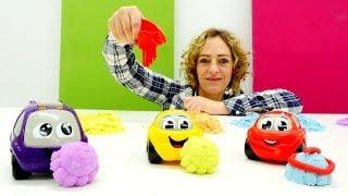 Nicole spielt mit kinetischem Sand - 4 Spielzeugvideos für Kinder am Stück