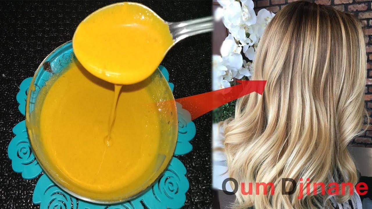 صبغة الكركم لعشاق الشعر الاشقر الذهبي اللامع 100 100 وصفة رهيبة بلون تحفة وجذاب جدا Youtube