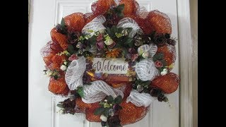 Carmen's 2019, Welcome Fall Vintage Wreath, Orange and fall colors