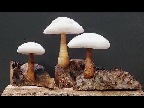 Woodturning - Mushroom