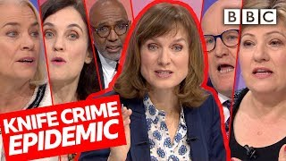 Is knife crime out of control? | Question Time - BBC