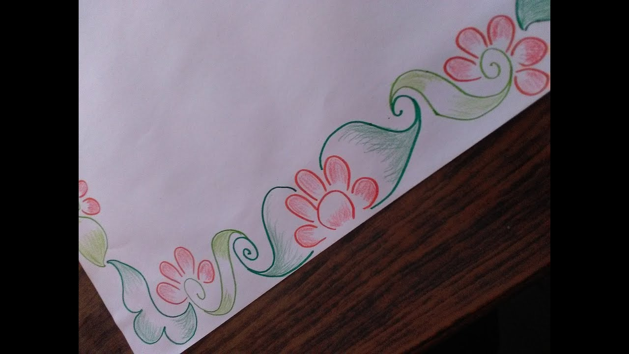 How to draw  border design on paper cards and templates simple but awesome also rh youtube