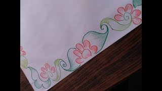 paper designs draw drawing cool border simple project drawings paintingvalley