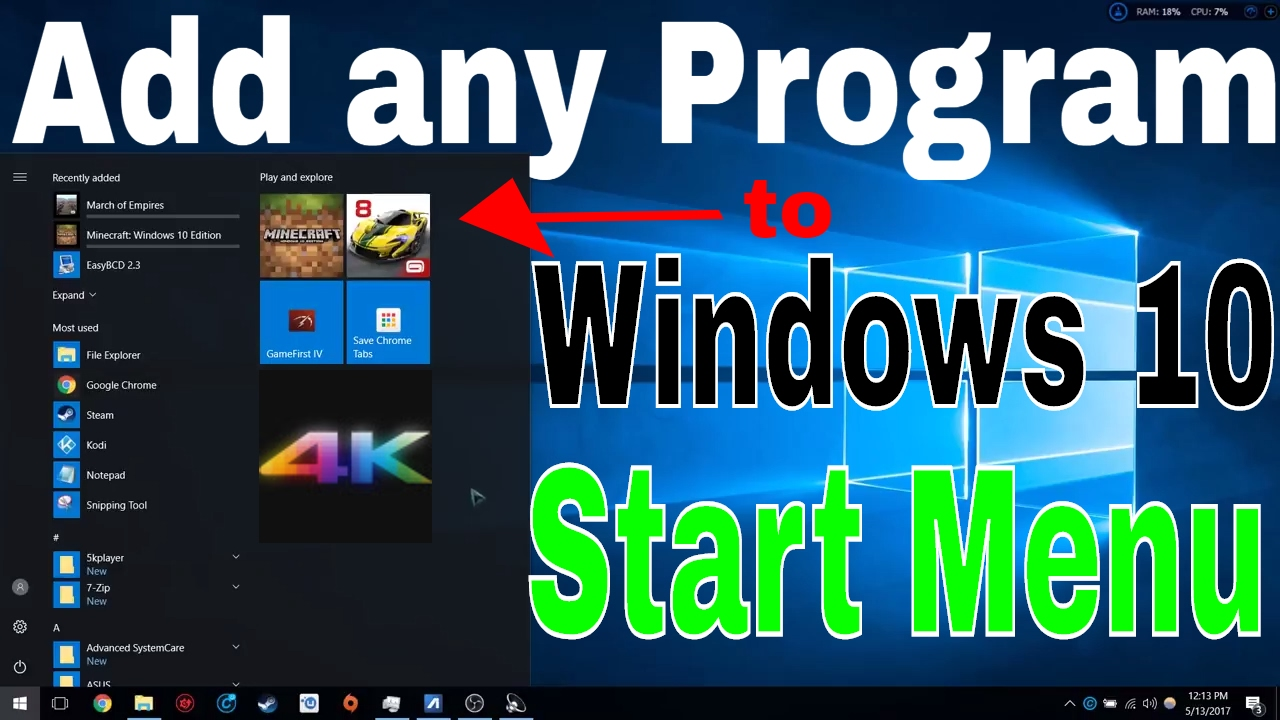 how to add program to windows 10 start up