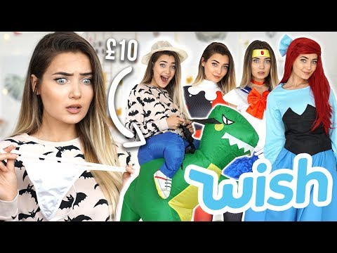 TRYING ON WISH HALLOWEEN COSTUMES UNDER £10!