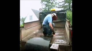Patching a dump truck bed