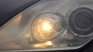 Renault Laguna 3 wymiana żarówek lampy przedniej.