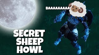 HOW TO DO THE SECRET SHEEP HOWL IN FORTNITE - MOON MAXIMUM EFFECT