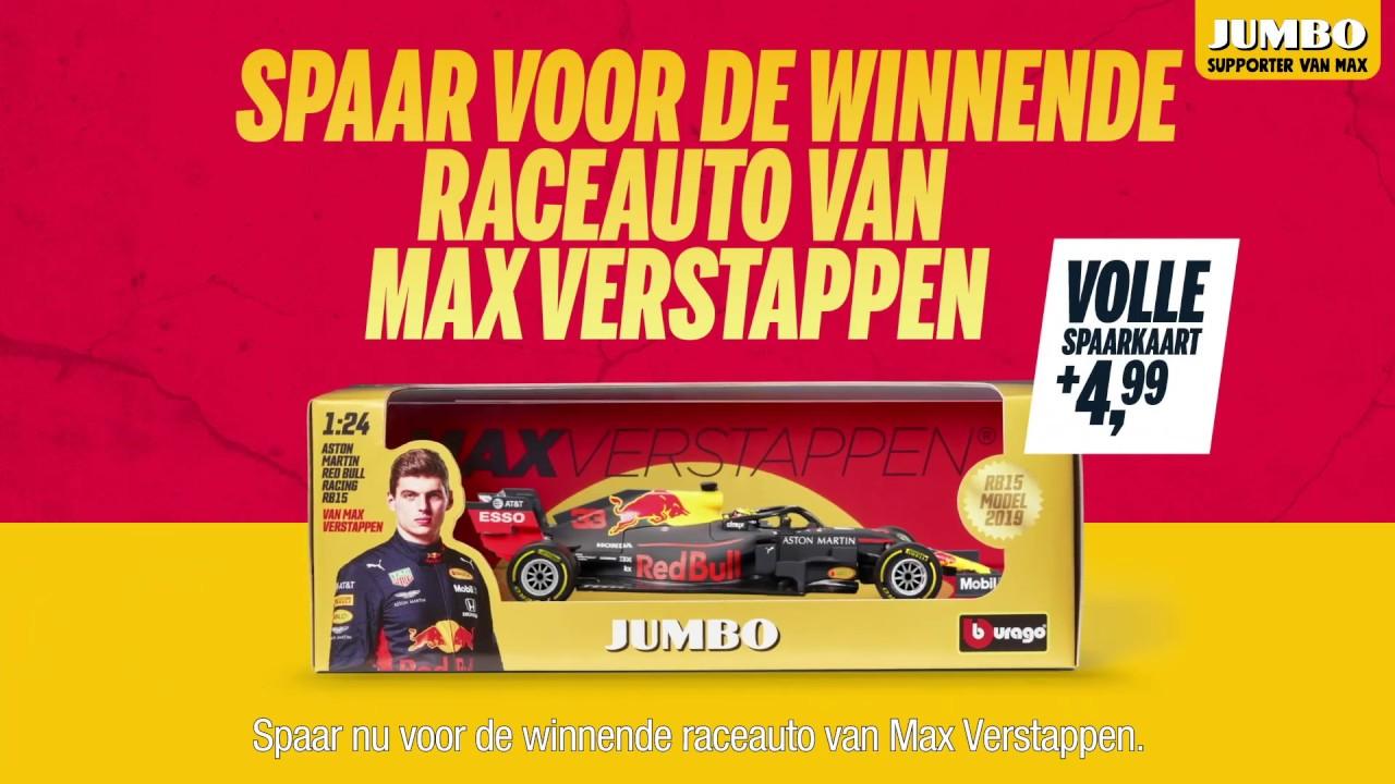 Jumbo: bemachtig de raceauto van Max Verstappen