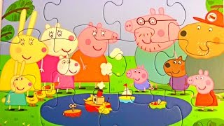 Peppa Pig New Puzzles Video for Kids