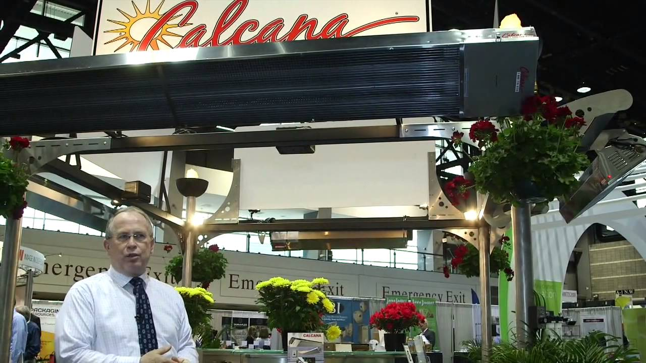 Calcana Infrared Patio Heaters - NRA show 2015 - YouTube