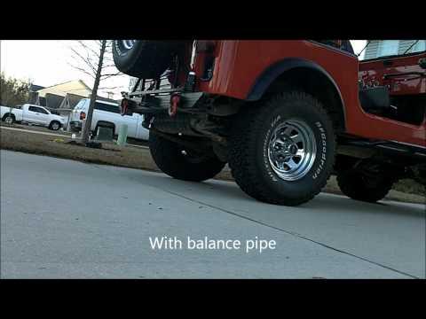 Jeep CJ7 258 Dual Exhaust Balance Pipe Comparison