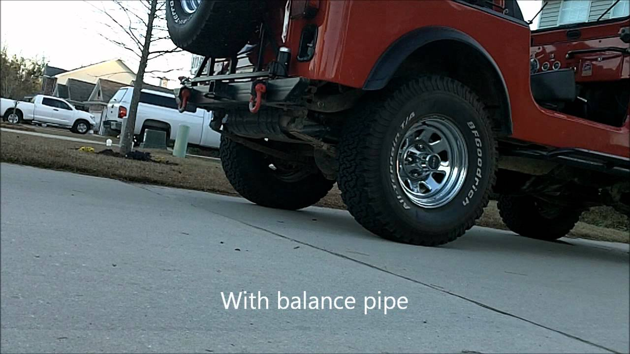hight resolution of jeep cj7 258 dual exhaust balance pipe comparison