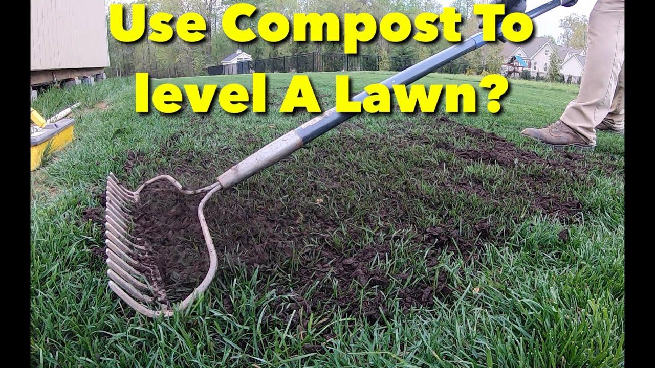 60ba3f2d3b Compost Top Dress Level Lawn - YouTube