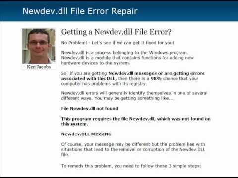 Newdev.dll Error Fix - Newdevdll.com