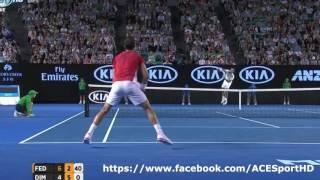 Roger Federer vs Grigor Dimitrov Australian Open 2016 tennis highlights HD720p50 by ACE
