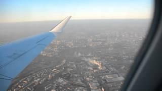 Lublin z lotu ptaka, start Lufthansa 3.1.2016 HD