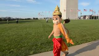 Hanuman Meets People in Washington D.C.
