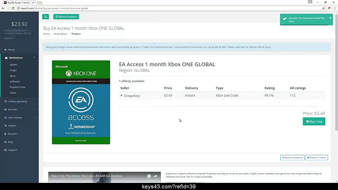 EA Access Codes For Free 1 Month August 2018 Tutorial Working 100 YouTube