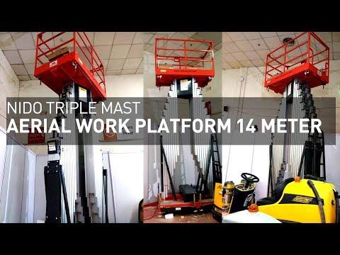 Nido TripleMast Aerial Work Platform 14Meter | Live Demo At Customer Site