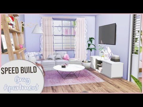 The Sims 4 Speed Build | MINIMALIST GRAY APARTMENT + CC Links