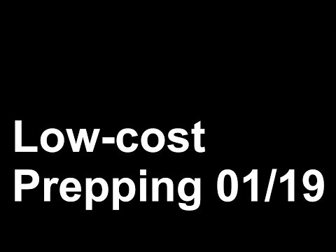 Low cost Prepping Serie 01/19